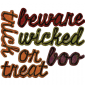 Sizzix Tim Holtz - Thinlits Die Set  12pk - Shadow Script Halloween - 663093